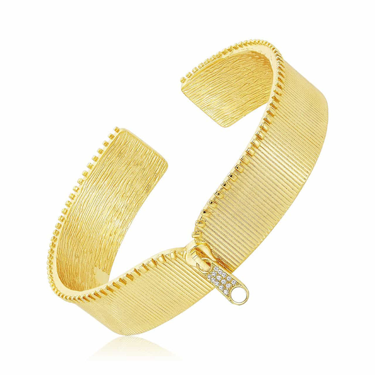 The Moto Zipper Cuff Bracelet