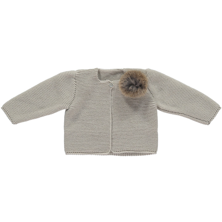 Girls pom pom cardigan