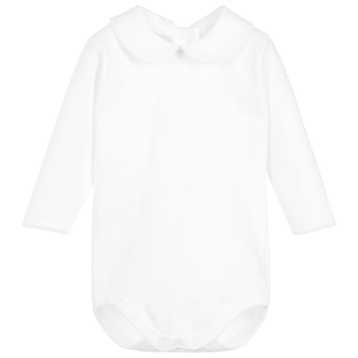 Peter pan collar baby bodysuit