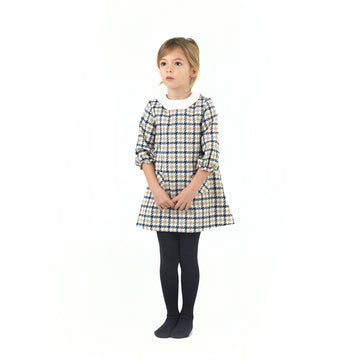Spanish Classic girl's dress with white collar