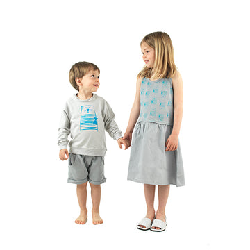 Spanish cotton grey girl´s dress