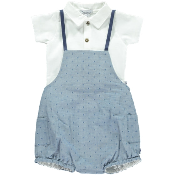 Cotton blue dungarees