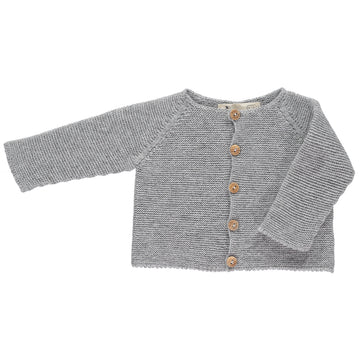 Classic knitted grey cardigan