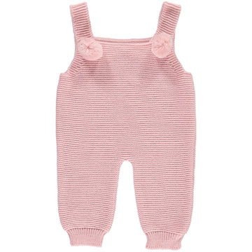 Dusty pink romper with pompoms