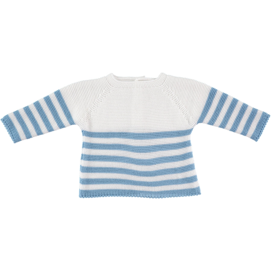 Baby blue striped jersey