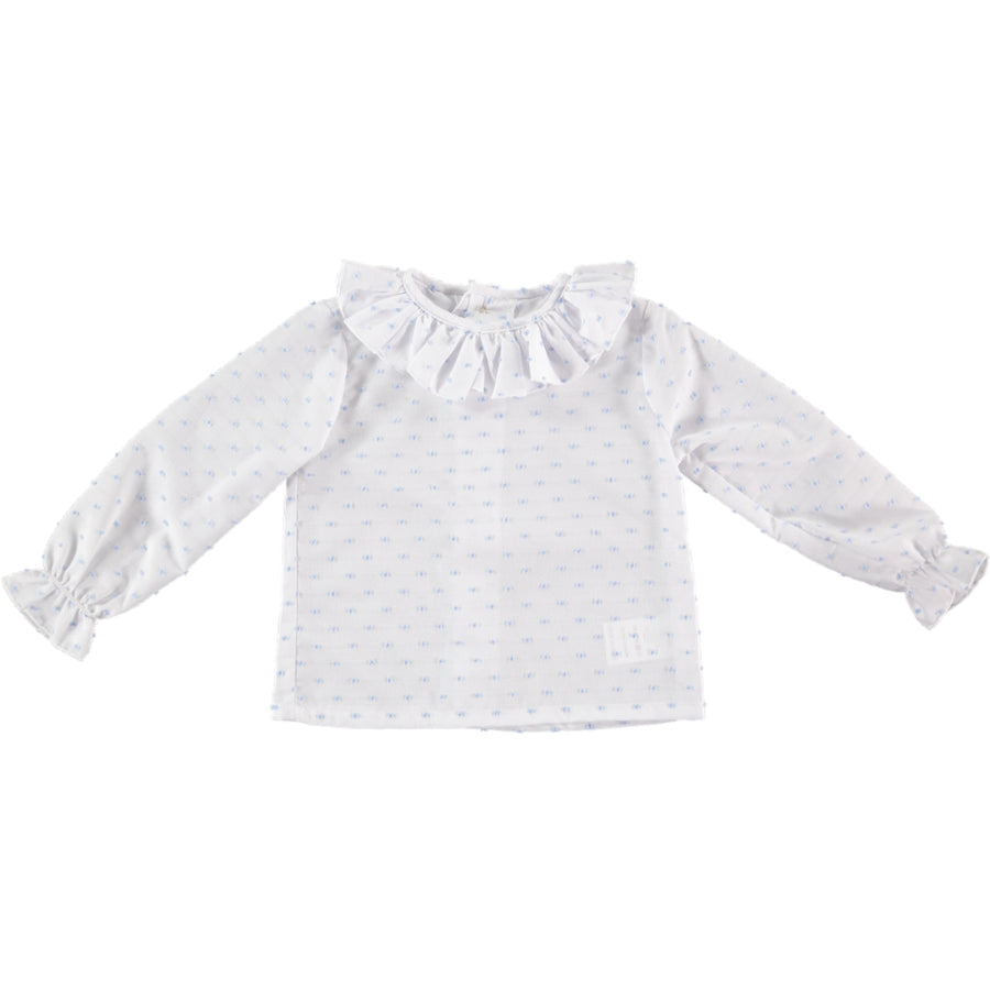Girl's cotton plumeti shirt