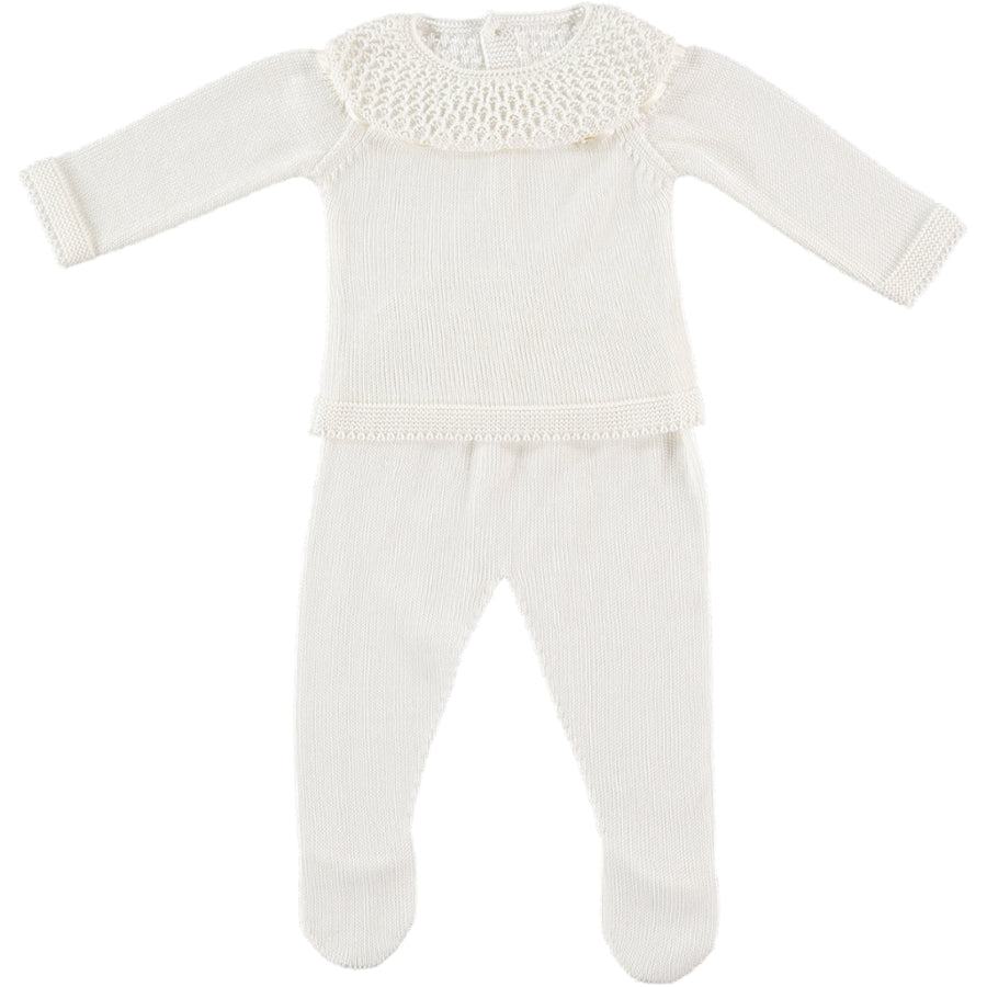 Babygrow with ruffle collar