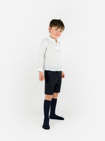 Navy smart boys trousers