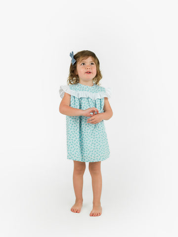Girl dress with ruffle detailing