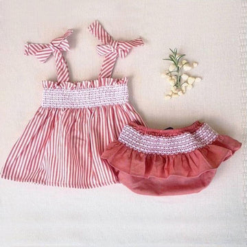 Athens dress with diaper cover