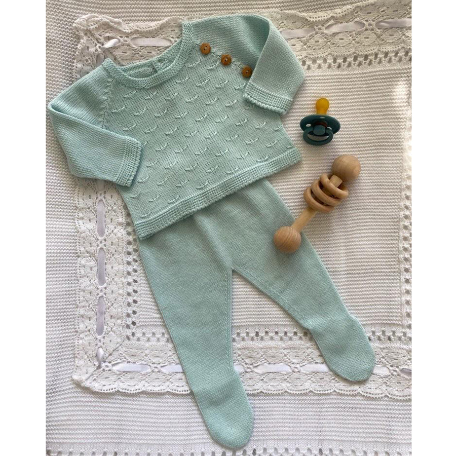 Baby two piece outfit mint