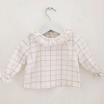 Ruffle collar girl's blouse