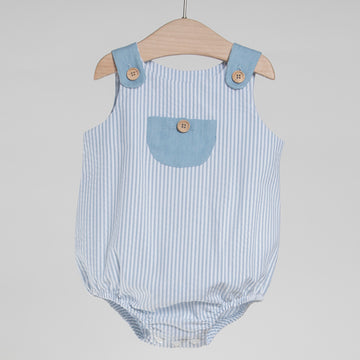 Baby blue baby romper