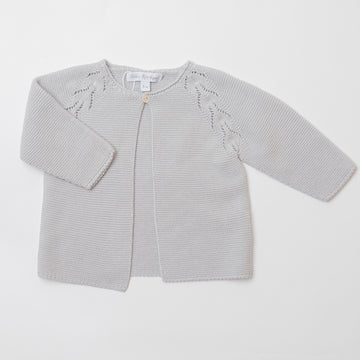 Cotton openwork cardigan
