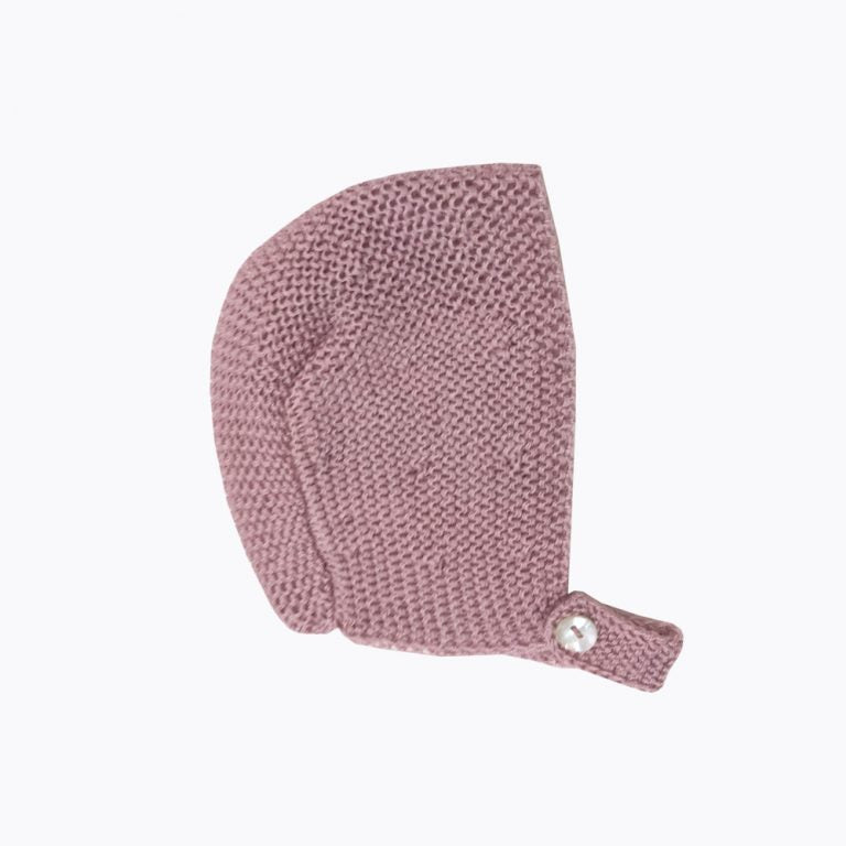Cotton Pink baby bonnet
