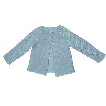 Classic girl's cardigan in green