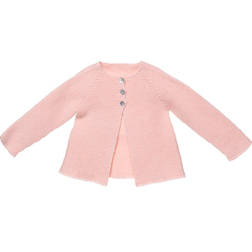 Classic girl's cardigan in pink