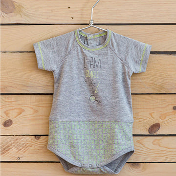 Grey baby boy body vest