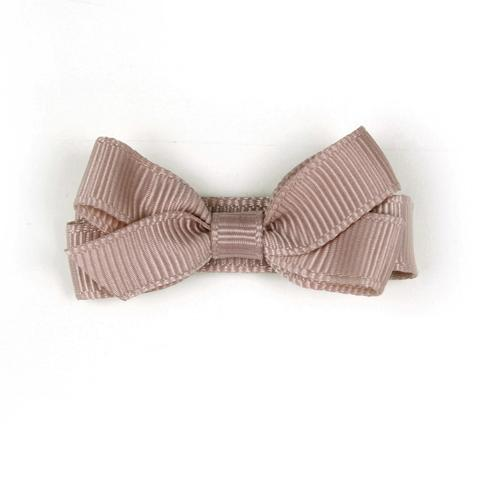 Dusty pink bow hair clip