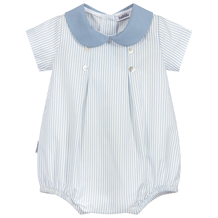 Blue & Ivory Cotton Shortie