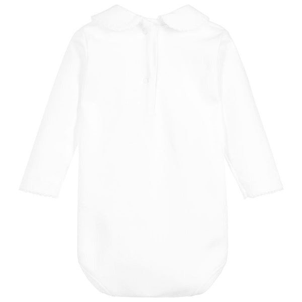 White peter pan collar bodysuit