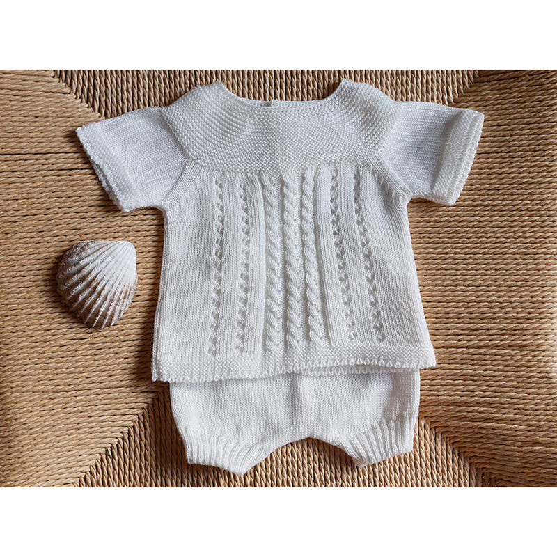 Traditional Spanish babygrow  (ivory)