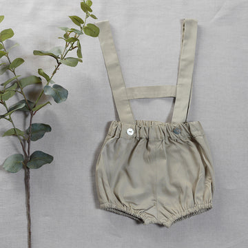 Beige baby short with braces