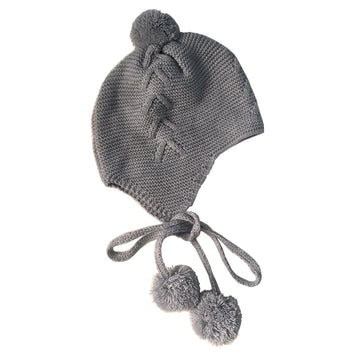 Grey baby bobble hat