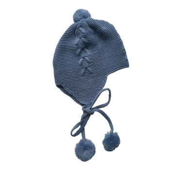 Blue bobble hat