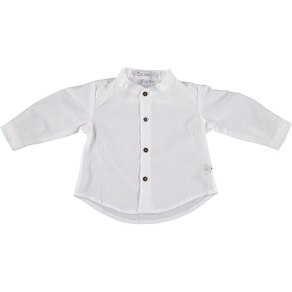 White cotton boy's shirt
