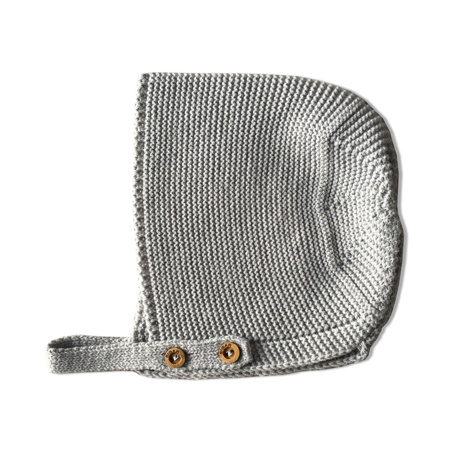 Cotton Grey baby bonnet