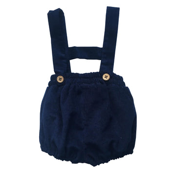 Navy baby boy short with braces