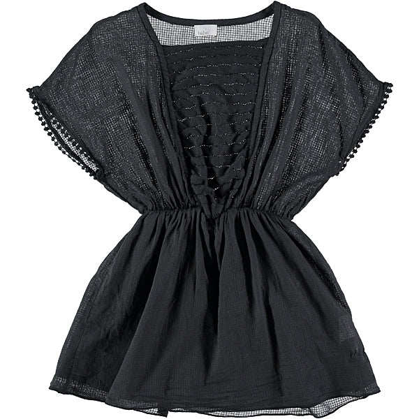 Girl's dress in charcoal grey
