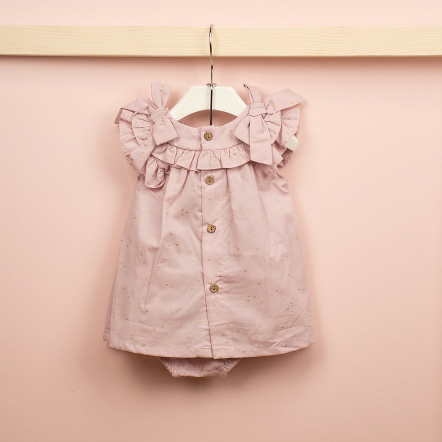 Malta ruffle shoulder strap dress with diaper