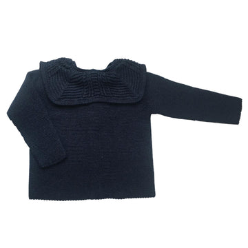 Navy waves pullover