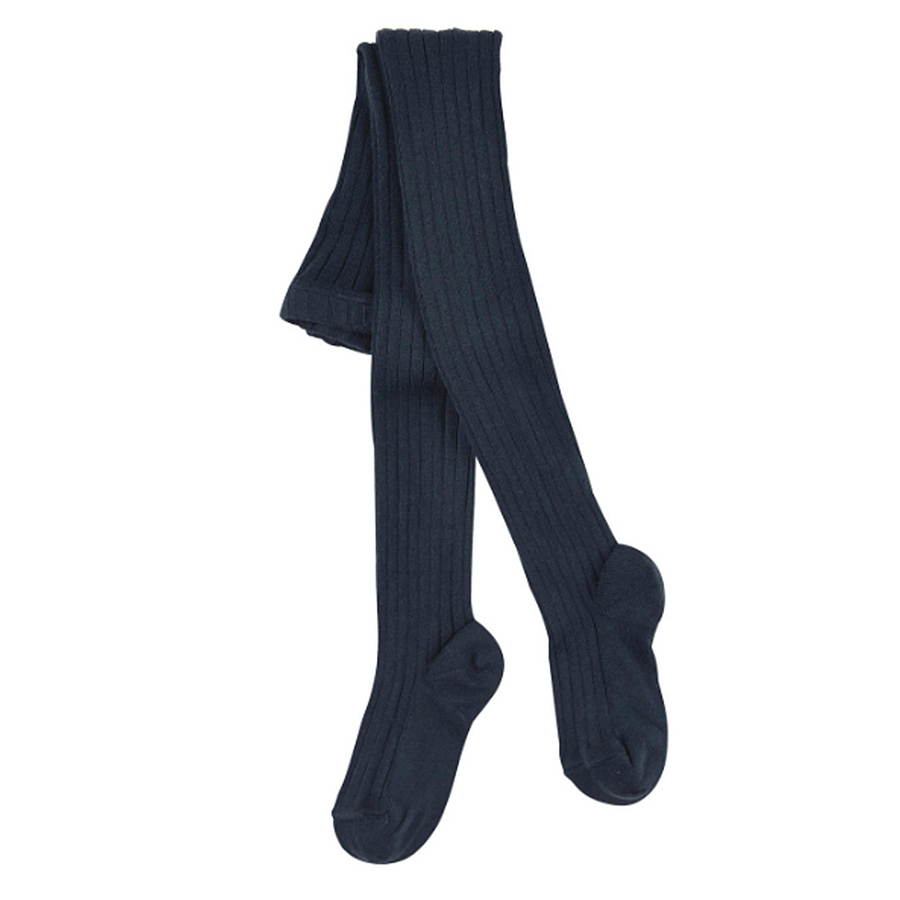 ribbed condor navy tights