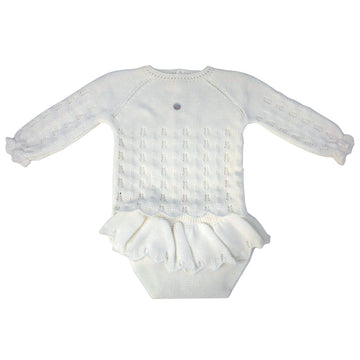 Baby outfit off white