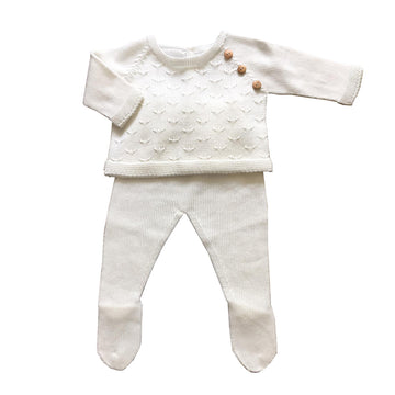 Baby two piece outfit white
