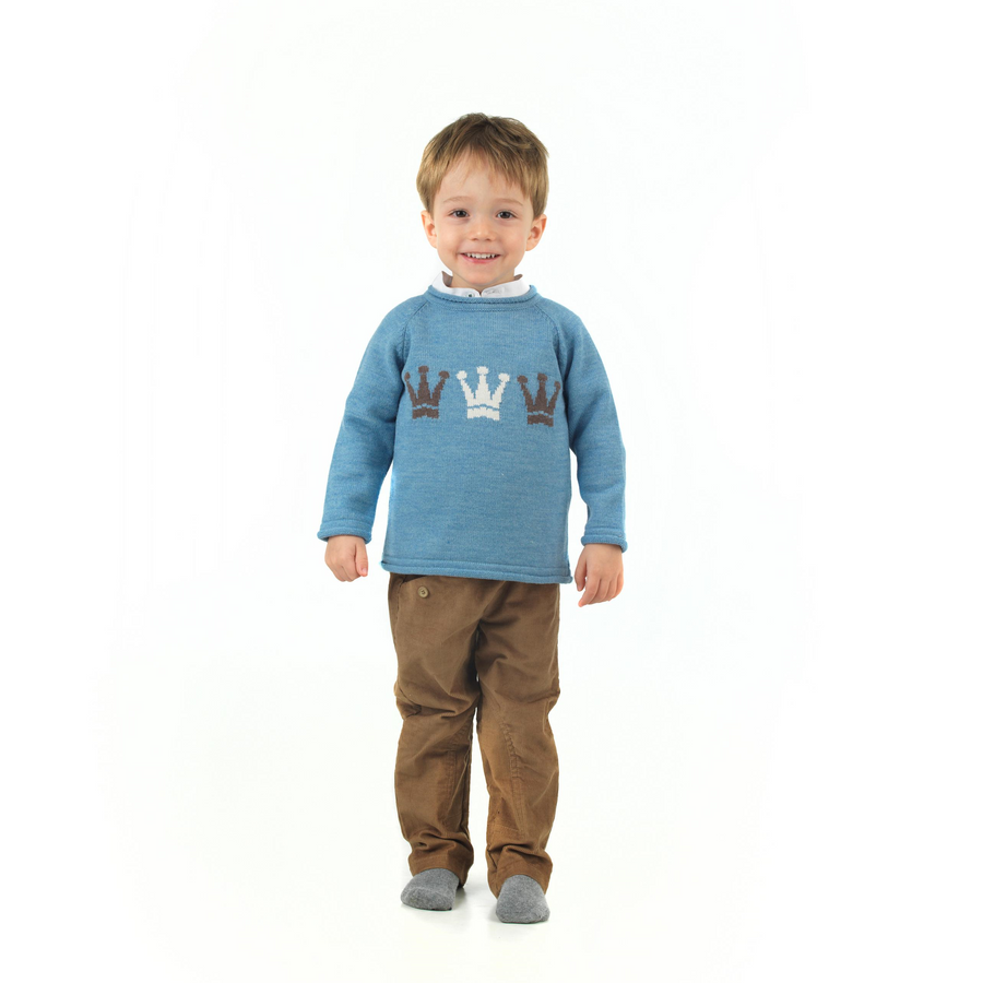 Crown embroidered boy's jumper