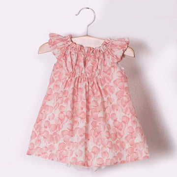 Pink girl dress with flowers