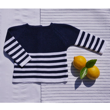 Navy striped jersey