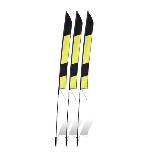 6 ft. Slalom FPV Racing Air Gates with Poles (Set of 3) - Yellow/Black