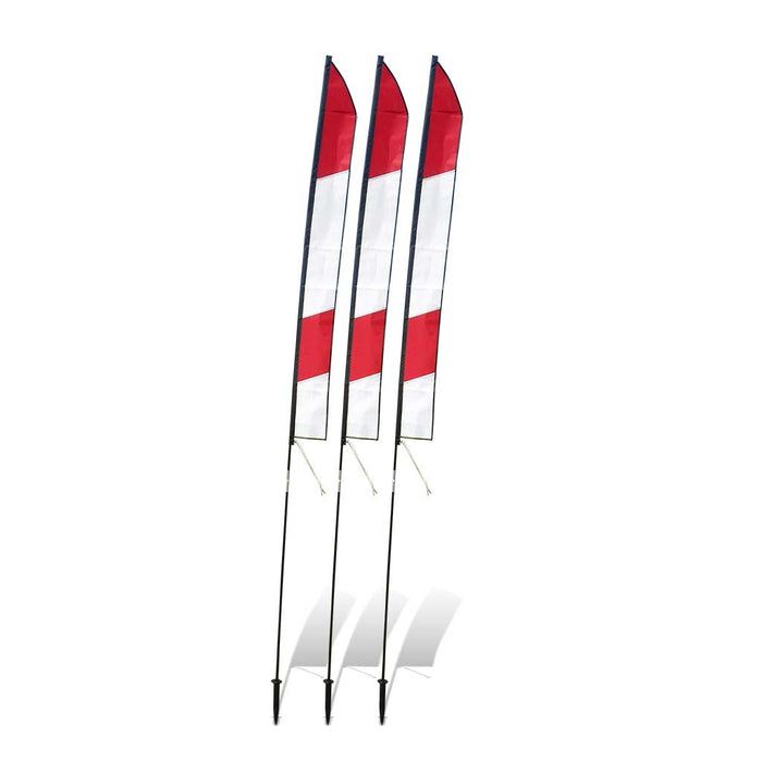 6 ft. Slalom FPV Racing Air Gates with Poles (Set of 3) - White/Red