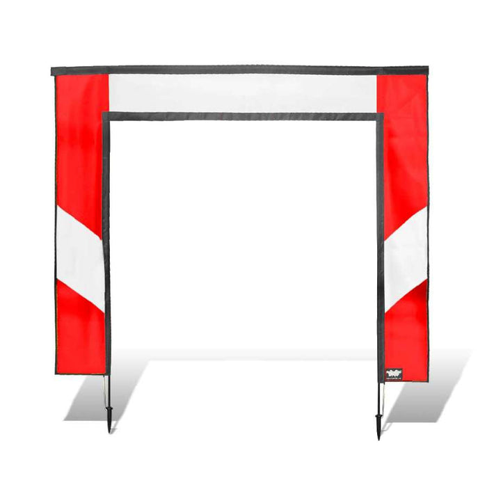 5 ft. Square FPV Racing Air Gate - White/Red