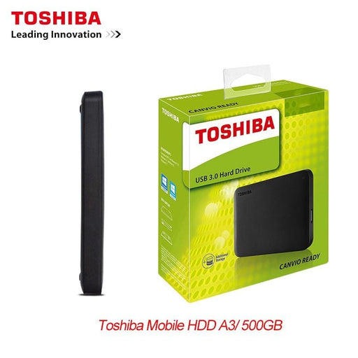 "TOSHIBA 500GB External HDD Portable Hard Drive Disk HD  2.5"" 5400rpm USB 3.0  Backuprddrive"