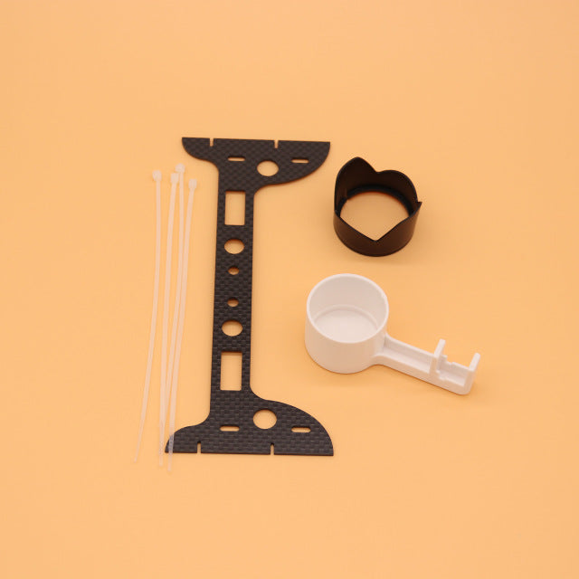 3 pcs Phantom 3 Drone Camera Lens Cover Stabilizer Bracket Sun cover carbon fiber protection plate