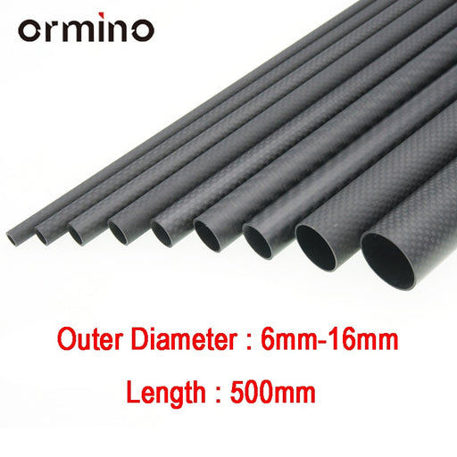 Ormino 3K Carbon Fiber Tube for Drone 6mm 8mm 10mm 12mm 14mm 15mm 16mm - DroneX - Discover the World of Drones