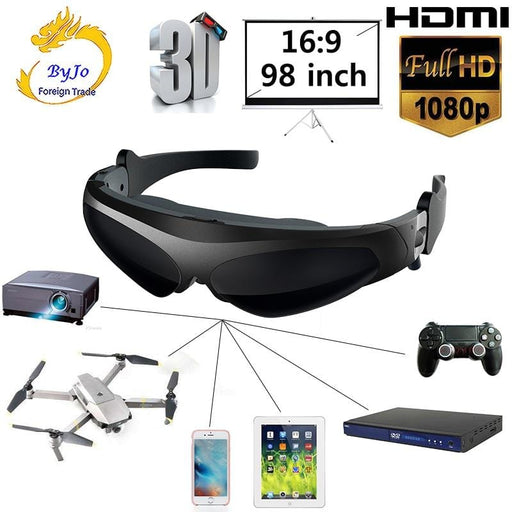 FPV 3D video glasses  Support IOS and Android HD input 1080P - DroneX - Discover the World of Drones