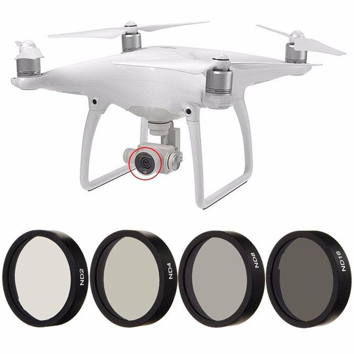 New 4pc ND2 ND4 ND8 ND16 Len Filter for DJI Phantom 3 4 Professional Lens Set Black Frame - DroneX - Discover the World of Drones
