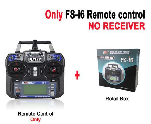 FlySky FS-i6 2.4G  RC Transmitter With FS-iA6  Receiver - DroneX - Discover the World of Drones